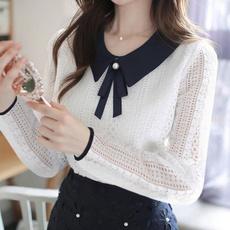 blouse, Summer, Collar, Fashion
