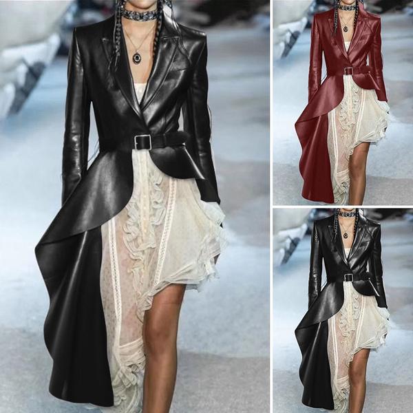 dressesforwomen, ruffle, Sleeve, Long Coat
