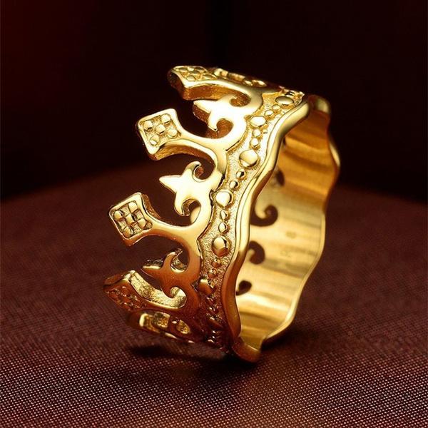 King, Jewelry, crownring, gold