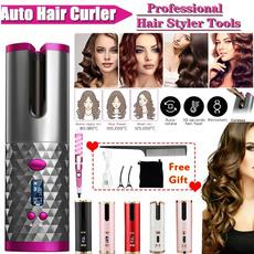 wirelesshaircurler, hairstyingtool, Rechargeable, usbwirele