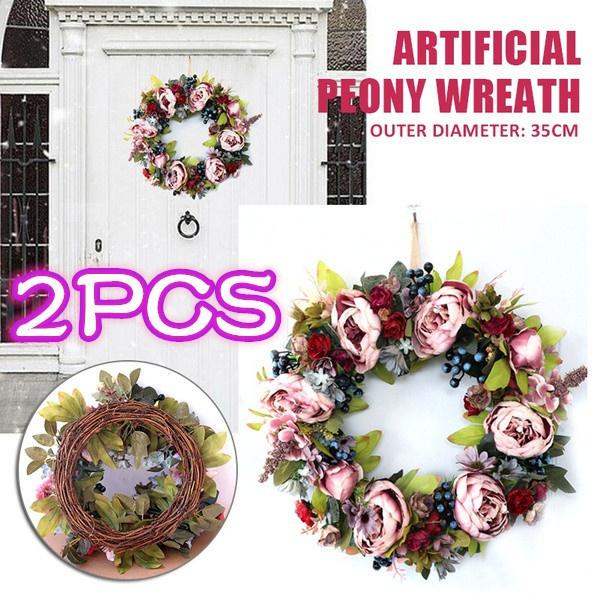 peonywreath, Flowers, Door, Home Decor