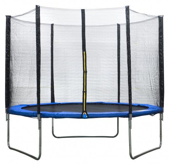 Blues, trampolinewithsafetynet244cmblue, trampoline