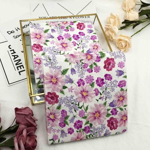 pink, decoupage, Flowers, Mats