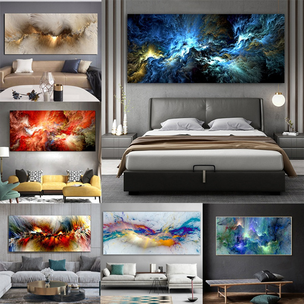art print, Home & Kitchen, modern abstract oil painting, Home