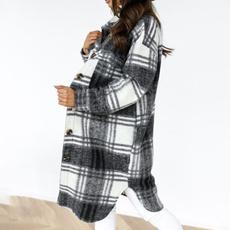 woolen, Plus Size, Winter, Long Coat