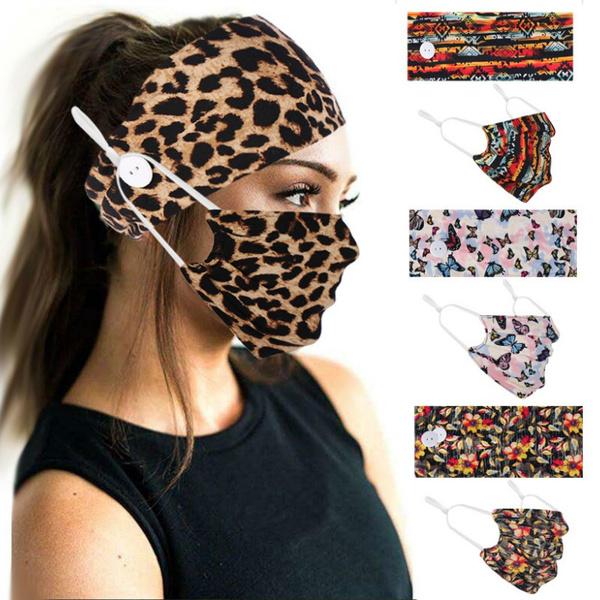 buttonsheadband, headbandwithmask, Elastic, button