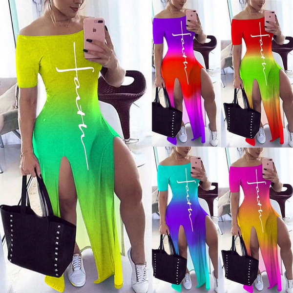 Plus Size, Dress, short sleeves, beach dress