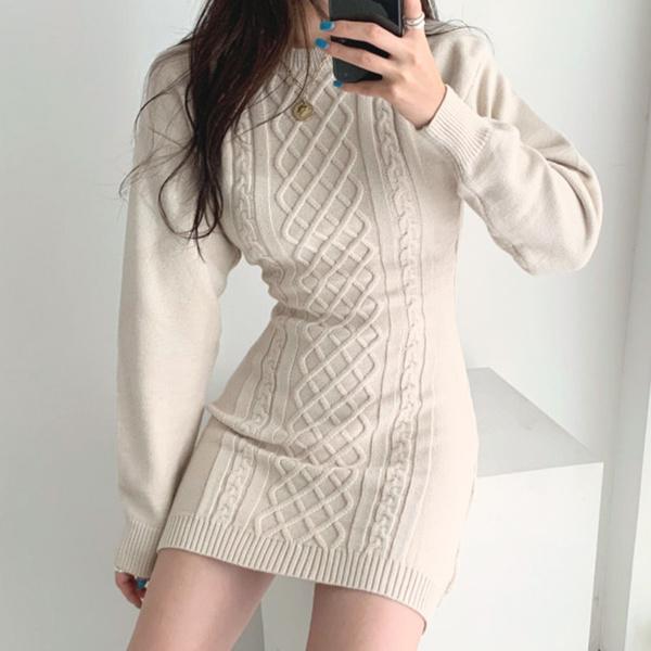 knitted, Fashion, sweater dress, Winter