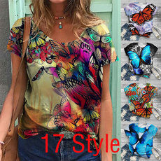 butterflyprint, cute, fashion women, Short Sleeve T-Shirt