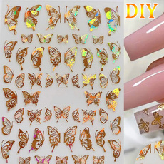 butterfly, Adhesives, nail stickers, Holographic