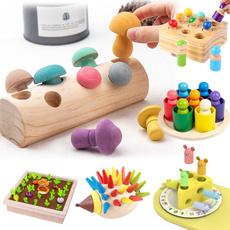 Baby, montessori, Toy, Mushroom