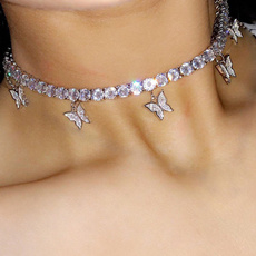 butterfly, 925 sterling silver, Jewelry, Chain