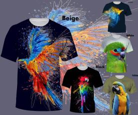 3dshirtformen, Fashion, Novelty, parrot3dshirt