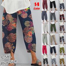 summertrouser, Women Pants, harem, Plus Size