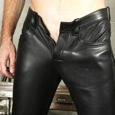 Fashion, skinny pants, PU, leather