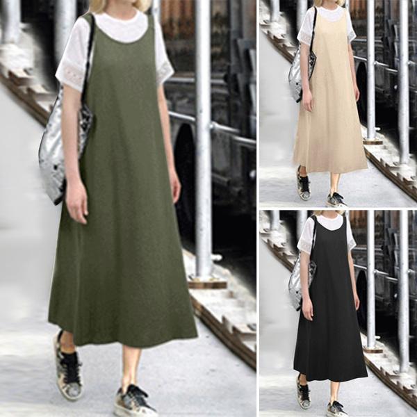 dressforwomen, Plus Size, Cotton, long dress
