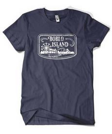 , T Shirts, Navy, island