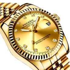 Fashion, gold, Waterproof, wristwatch