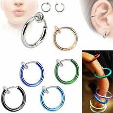 Jewelry, stainlesssteelnosering, Spring, noseringset