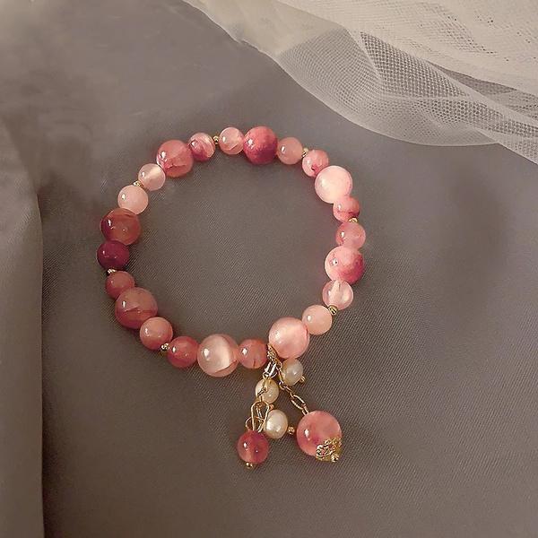 Beaded Bracelets, cuff bracelet, Fashion, Elastic