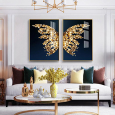 butterfly, golden, posters & prints, art