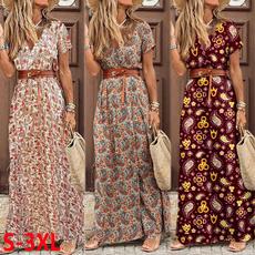 short sleeve dress, womensfashiondresssummer, Vestidos, Elegant