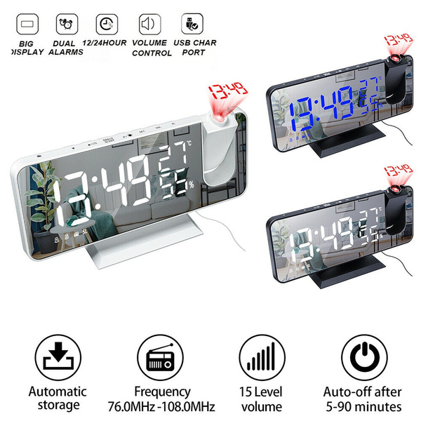 projectionalarmclock, Home & Office, led, mirrorclock