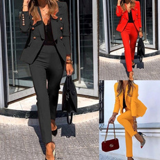 Jacket, Set, Blazer, Office