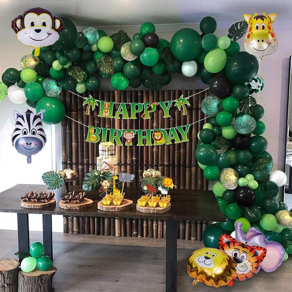 safari, Garland, Balloon, Party Supplies