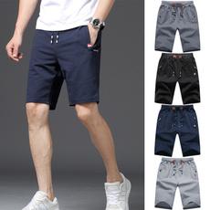 joggershortsformen, Beach Shorts, Elastic, Fleece