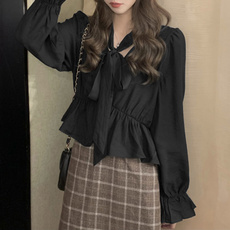 Plus Size, crop top, tunic top, Long Sleeve