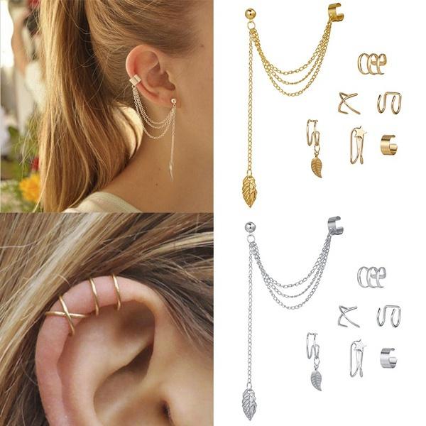 Beautiful, Ear Cuff, Fashion, leaf