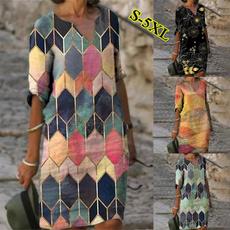 Vintage, printeddre, short dress, Manica