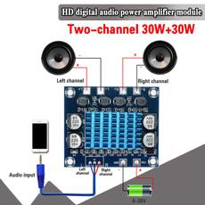 audioamplifier, Stereo, digitalamplifier, powers