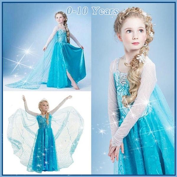 elsa dress, Cosplay, Princess, Frozen