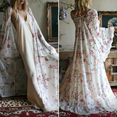 printeddres, Lace, Sleeve, long dress
