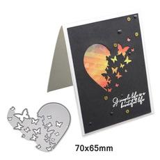 butterfly, Heart, Decor, diyscrapbookingembossingcut