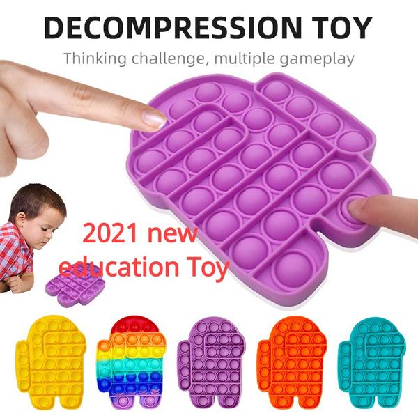 Toy, fidgettoy, stressrelief, pushpopbubble