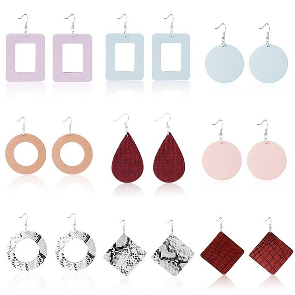 Jewelry, PU, leather, Waterdrop