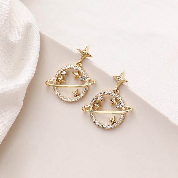 Fashion, Star, gold, earringsforgirl