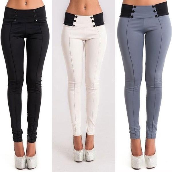 Summer, Leggings, Elastic, Casual pants