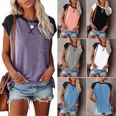 Summer, Fashion, Cotton T Shirt, Tops