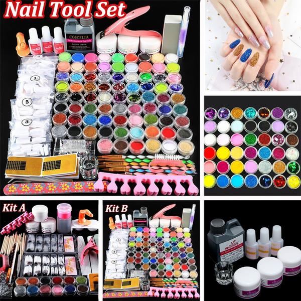 Nails, nailkitacrylic, uñasacrilicaskitprofessional, Beauty