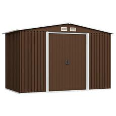 Steel, brown, shed, Garden