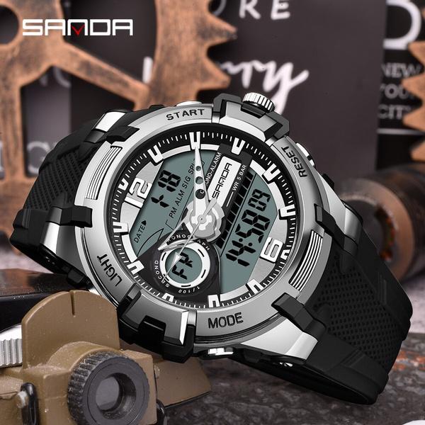 Chronograph, LED Watch, quartz watch, Waterproof