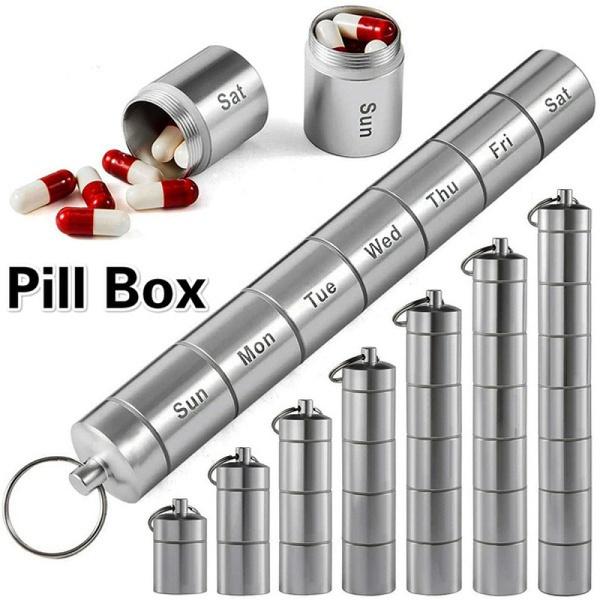 case, Box, pillbox, aluminumalloypillbox