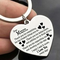 Steel, Heart, Key Chain, Jewelry
