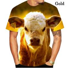 Funny, Fashion, Shirt, cow