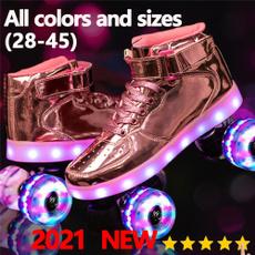 rollerskatesforgirl, led, rollerskate, Colorful