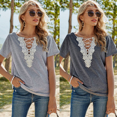 blouse, Tees & T-Shirts, Lace, Sleeve